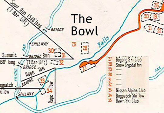 The Bowl map circa 1961